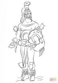 mayan warrior coloring free printable coloring pages