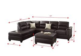 30 ideas of contemporary black leather sectional sofa left side chaise