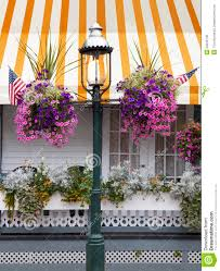 Porch Flags Cape May Gas Street Lamp Stock Photo Image Of Porch 33246736