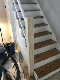 Sanding A Banister A Newel Post And Handrail Suited For A Back Staircase Old Town Home