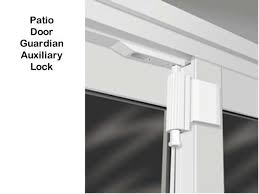 Locks For Patio Sliding Doors Auxiliary Lock Sliding Glass Door Door Guardian