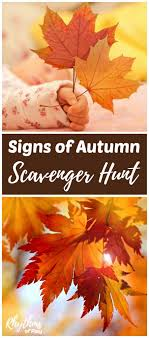 fall autumn signs of autumn fall scavenger hunt for kids rhythms of play