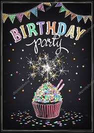 birthday sparklers birthday invitation card birthday cupcake with sparklers stock
