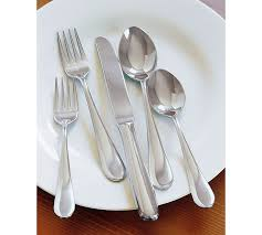 How To Set Silverware On Table Classic Flatware Pottery Barn