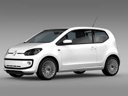 volkswagen up white vw up 3 door 2015 by creator 3d 3docean
