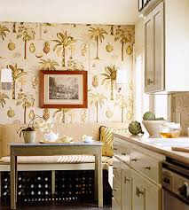 Washable Wallpaper For Kitchen Backsplash by 35 Ideas Of Using Creative Wallpapers On A Kitchen Shelterness
