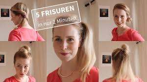 Frisuren Zum Selber Machen Flechten by 5 Einfache Frisuren In 2 Minuten Ohne Flechten