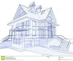 blueprint houses modern house blueprint stock photo image 6360290