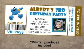 colors cookie monster birthday invitations free in conjunction