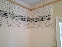 Fiberglass Bathroom Showers Dress Up The Area Above Your Fiberglass Shower Insert Featured Is
