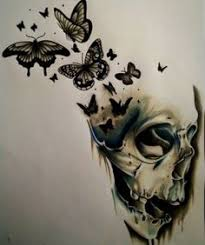 black and white skull and drawings search a