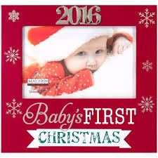 baby u0027s first christmas 2016 frame by malden design picture