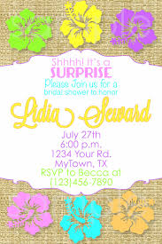 hawaiian bridal shower invitation hawaiian birthday hibiscus party