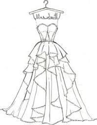 drawn wedding dress cartoon pencil and in color drawn wedding