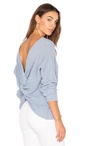 powder blue endless rose back detail sweater in powder blue revolve