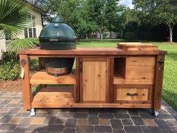 custom grill tables kamado joe big green egg primo dual
