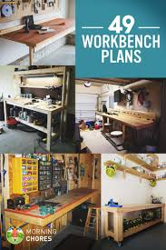 How To Build A Garage Workshop by 49 Free Diy Workbench Plans U0026 Ideas To Kickstart Your Woodworking