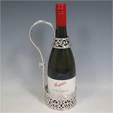 silver wine bottles wine bottle holders and cradles in antique sterling silver bryan