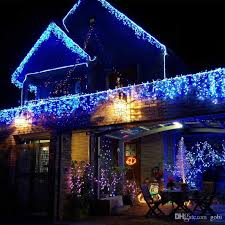 Blue Christmas Lights Decorations by Cheap 10m 0 5m 320 Led Curtain Icicle Light Party Wedding Xmas