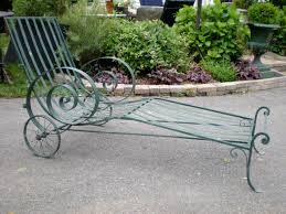 Wrought Iron Chaise Lounge Antique And Vintage Garden Furniture Plain Elegant Antiques Showy