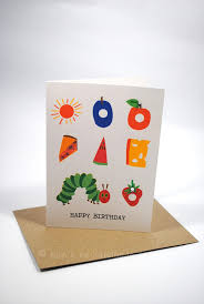 happy birthday card boy or the very hungry caterpillar