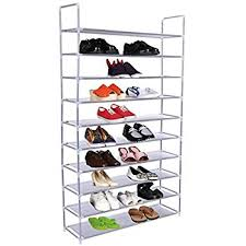 amazon com oxgord 50 pair shoe rack storage organizer 10 tier