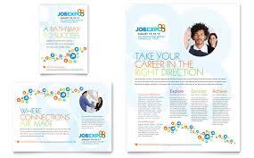 job expo u0026 career fair flyer u0026 ad template design
