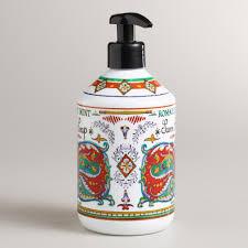 unique soap dispenser deruta rosemary mint hand soap world market
