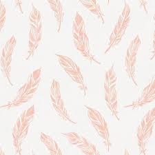 peach hand drawn feathers duvet cover carousel designs