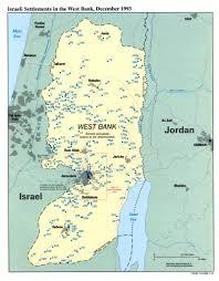Map Of Israel And Palestine Palestine