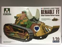 renault f1 tank takom 1 16 scale french light tank renault ft char canon girod