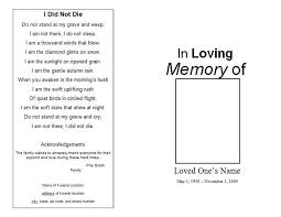 sle funeral program template 7 best for s funeral images on coding