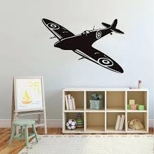 wall ideas image of pottery barn airplane wall decor vintage