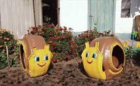 Gardening Crafts For Kids - recycled garden art projects tire garden ideas cadagu trädgård