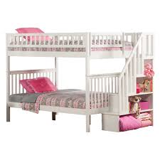 Columbia Full Over Full Bunk Bed by Woodland Full Over Full Staircase Bunk Bed Hayneedle