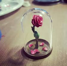 Miniature by Miniature Polymer Clay Enchanted Rose From Beauty And The Beast In