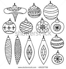 vector collection sketched retro ornaments stock vector