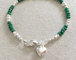 emerald heart necklace images Emerald heart etsy jpg