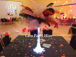 ostrich feather centerpiece lara party hire black white ostrich feather centerpieces