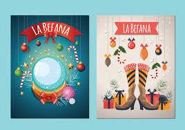 befana italian tradition card vectors free