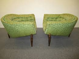 Mid Century Chair Lovely Pair Of Mid Century Modern Tufted 3 Legged Lounge Chair For