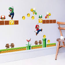 popular mario wall decals buy cheap mario wall decals lots from super mario 3d kids nursery removable wall decal vinyl stickers art home decor china