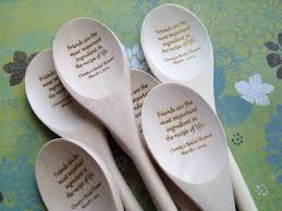 wedding shower party favors engraved wooden spoon bridal shower guest book by decadentdesigns