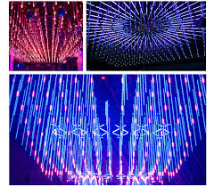interactive lights led falling meteor snow effect