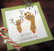 frugal christmas craft idea footprint reindeer homemade gift
