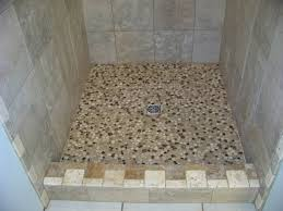 Bathroom Shower Floor Ideas Fabulous Small Bathroom Shower Decoration Using Square Travertine