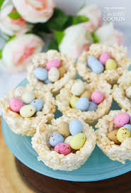 easter desserts rice krispie nests a quick and easy no bake easter treat