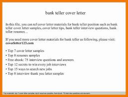 bank teller cover letter bank teller cover letter sample sample