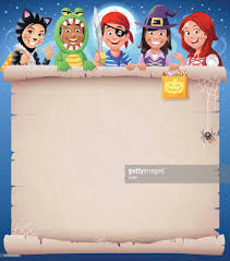 halloween kids party invitation vector art getty images