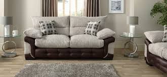logan 3 seater standard back fabric sofa scs